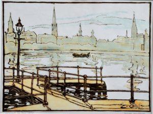 An der Alster- Ernst Odefey